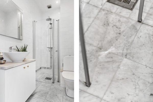 Lyxiga badrum 1 med snygga materialval